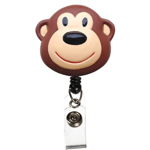 Monkey Retractable Pull Reel ID Badge Holder