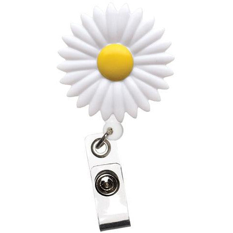 Daisy Flower Retractable Badge Reel