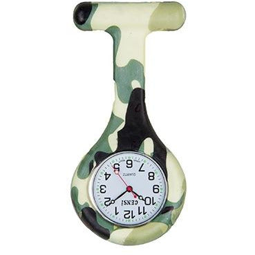 Camouflage Army Silicone Fob Watch