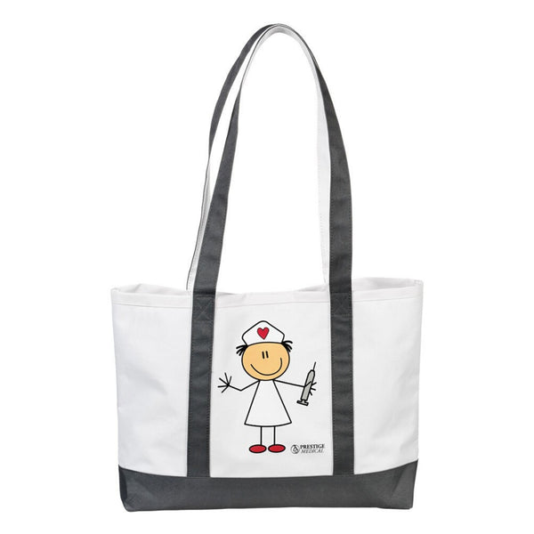 Large Tote Bag - Stick Nurse