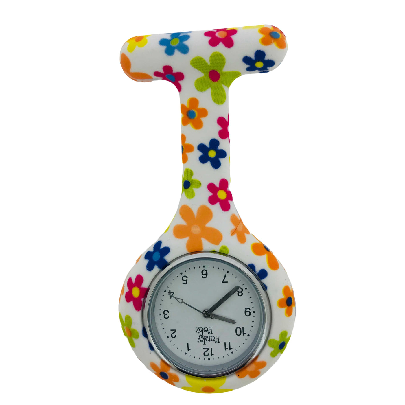 Flower Print Silicone Fob Watch