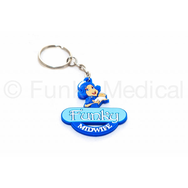 Funky Midwife Keyring
