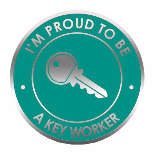 Proud to Be a Keyworker Pin Badge