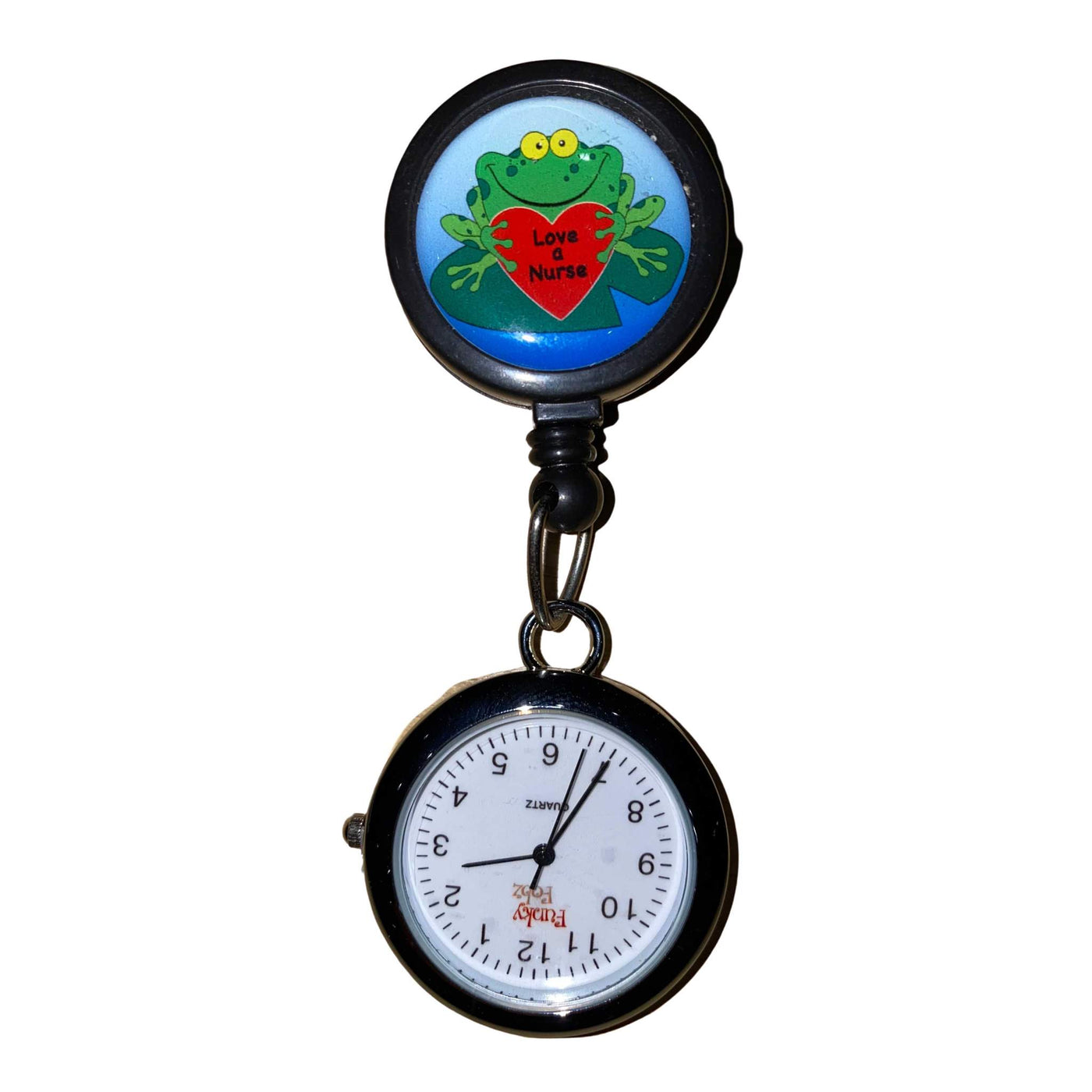 Frog Love A Nurse Retractable Pull Reel with Watch