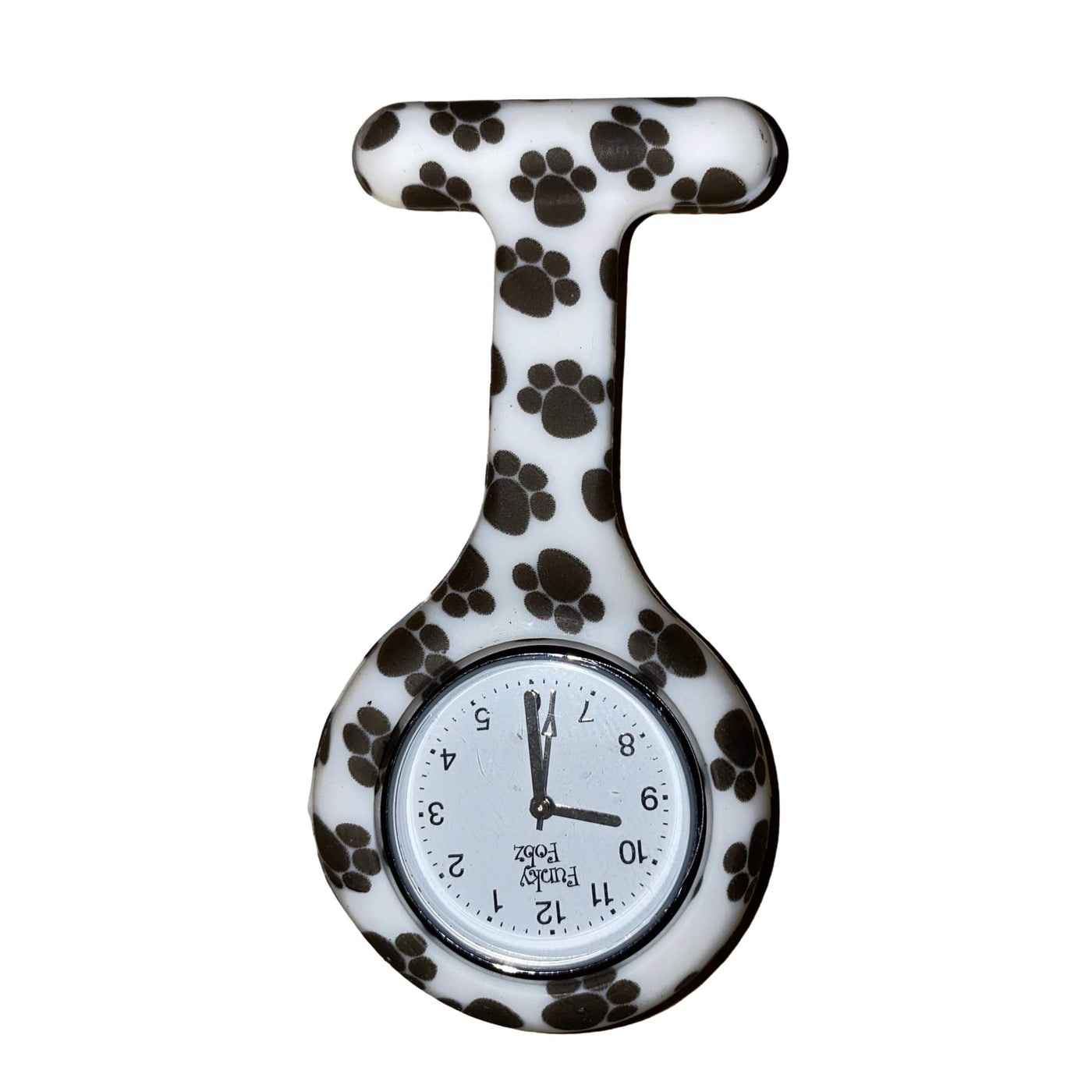 Paw Print Patterned Silicone Fob Watch