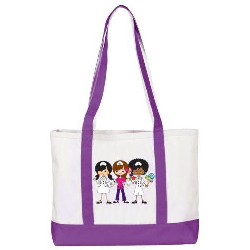 Nurse Trio Tote Purple