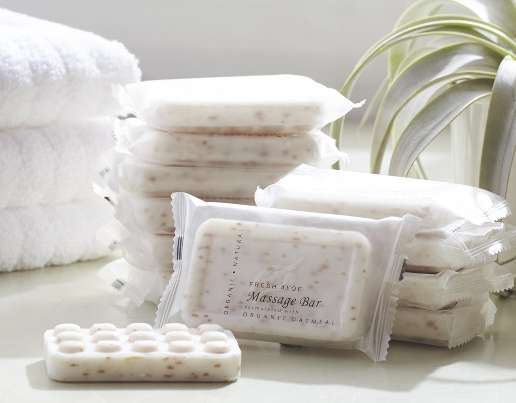Aloe Oatmeal Massage Bar Soap Hospitality Hotel Supplies for Vacation Rentals Airbnb HomeAway VRBO