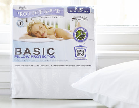 Basic Pillow Protectors by Protect A Bed - King