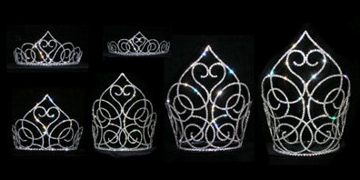 Swooning Heart Pageant Crown Collection