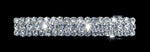 Barrettes #12705 - 3 Row Rectangle Barrette