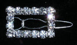 Barrettes #14360 Rhinestone Rectangle Barrettes