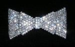 Barrettes #15427 - Pave Double Bow Barrette