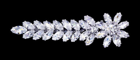 Barrettes #17061 - Flower Trail CZ Alligator Clip - 2.75""