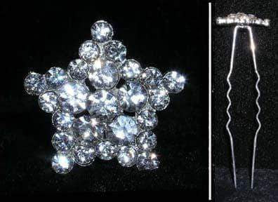 Bobbie and Hair Pins #15611 - Rhinestone Star Cluster Hair Pin