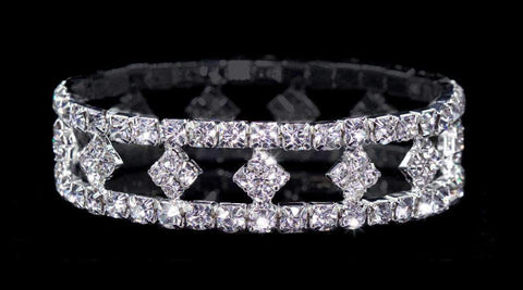 Bracelets #13622 - Stretch Diamond Shape Bracelet