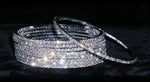 Bracelets #15094 - Single Thin Rhinestone Bangle