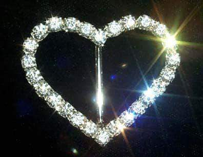 Buckles & Slides #12174C Rhinestone Heart Buckle