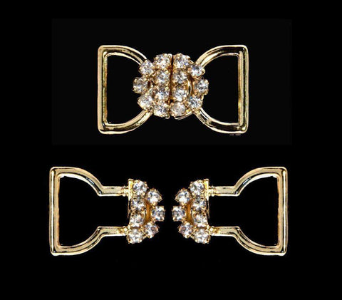 Buttons - Other Shapes #11792G Bow Closure - Gold Plated