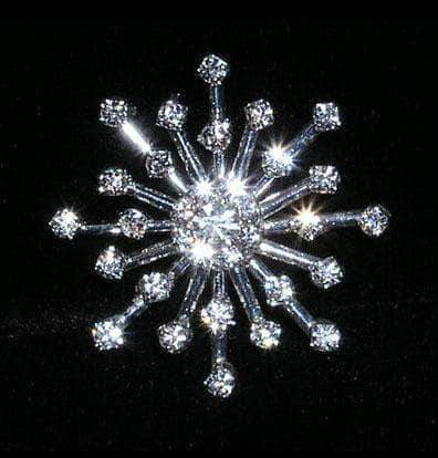 "Buttons - Other Shapes #15322 - Star Burst Approx 1.25"" Button - Silver Plated"
