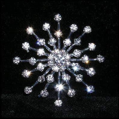 "Buttons - Other Shapes #15323 - Star Burst Approx 1.75"" Button - Silver Plated"