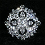 "Buttons - Other Shapes #15372 - Multi-Stone Diamond Cluster 1.75"" Button"