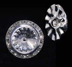 Buttons - Round 16mm Rondel Button with Crystal Rivoli Center - 11790/16mm