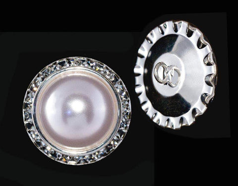 Buttons - Round 25mm Rondel Button with Imitation Pearl Center - 11789/25mm
