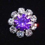 "Buttons - Round 9/16"" Rosette Button - #1215 Light Amethyst (June)"