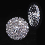 Buttons - Round Round Pave Button with Stone Center - Medium - #7100