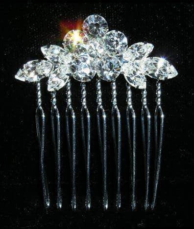 Combs #13782 - Crystal Wreath Comb