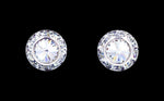 Earrings - Button #12535 11mm Rondel with Rivoli Button Earrings