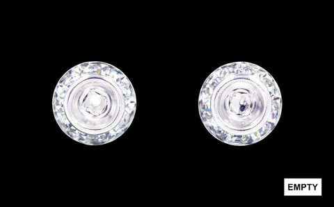Earrings - Button #12535 11mm Rondel with Rivoli Button Earrings without a center stone