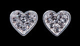 Earrings - Button #16381 -  Heart Post Earrings