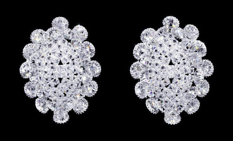 Earrings - Button #17067 - Bouquet Crystal Earrings