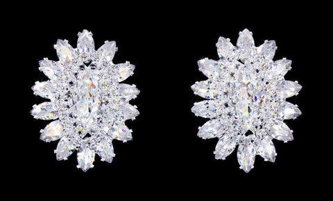 Earrings - Button #17069 - Jewel Burst CZ Earrings