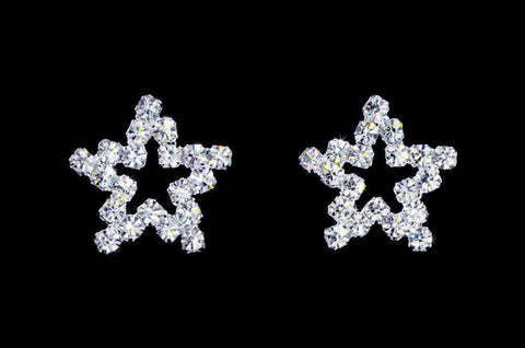 Earrings - Button #17077 Jagged Small Star Earrings