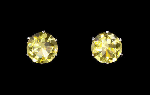 Earrings - Button 3-Carat CZ Sunflower Stud Earrings