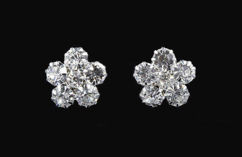 Earrings - Button Cluster Rhinestone Earring #12244