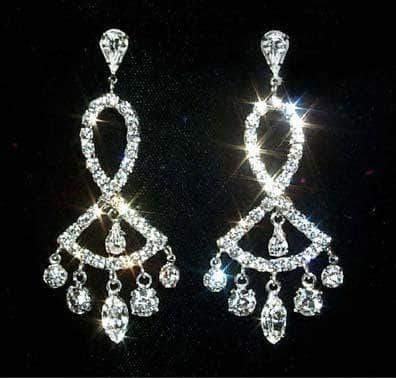 Earrings - Dangle #12325 Fanned Bottom Chandelier Earring