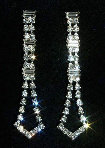 Earrings - Dangle #12352 Flaired Baguette Duster Earrings