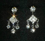 Earrings - Dangle #12711 - Small Square Dangle Chandelier Earrings