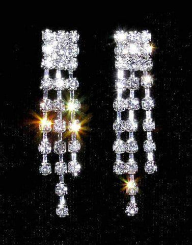 Earrings - Dangle #13954 - 3 Row Graduated Dangle Earring