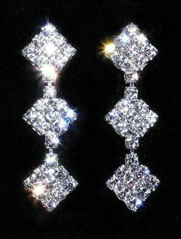 Earrings - Dangle #14001 - 3 Diamond Drop Earring