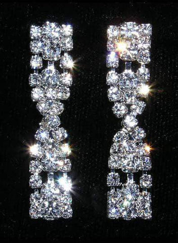 Earrings - Dangle #14135 - Crystal Twist Earring
