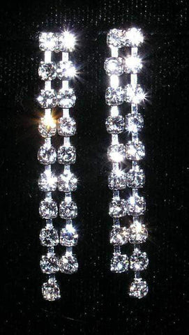 Earrings - Dangle #14176 - Straight 2 Row Dangle Earring