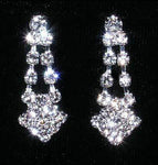 Earrings - Dangle #14177 - Diamond Tips Drop Earring