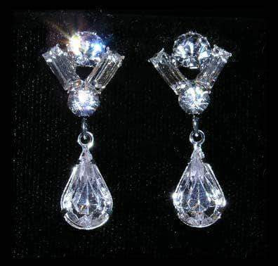 Earrings - Dangle #14733 - Champagne Cup Drop Earring