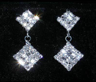 Earrings - Dangle #14809 - Princess Cut Earrings