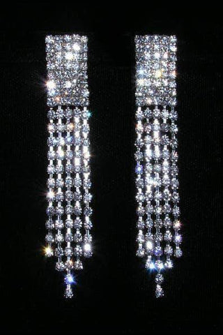 Earrings - Dangle #15081 - Rhinestone Fray Earrings
