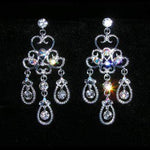Earrings - Dangle #15399 - Eduardian Crystal and AB Chandalier Earrings